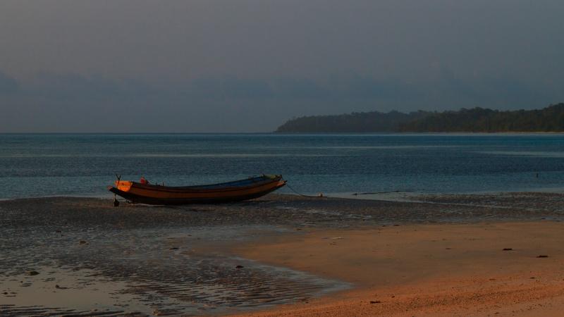 Photograph of Boat at Dawn