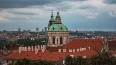 Photograph of the Church of Saint Nicholas in Prague.