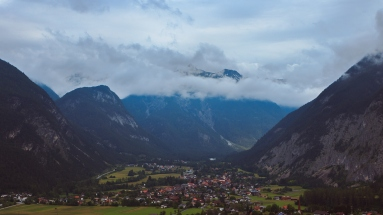 Photograph of a Small Alpine Town